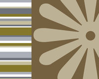 Retro stripes and floral background Royalty Free Stock Photo
