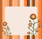 Retro stripes and flowers Stock Image