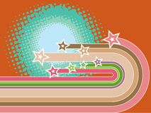 Retro stripes superstar curves Stock Images