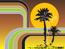 Retro stripes tropical holiday Stock Photos