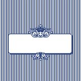 Retro stripy banner for your text. White and blue stripy banner Royalty Free Stock Image
