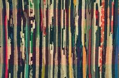 Retro a strisce multicolore di tessuto Fotografia Stock Libera da Diritti