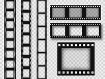 retro striscia di pellicola di 35mm illustrazione vettoriale