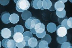 Retro struttura blu del fondo, del partito, di celebrazione o di Natale delle luci Immagine Stock Libera da Diritti