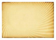 Retro struttura dello sprazzo di sole sul documento dell'annata. Immagini Stock