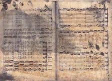 Retro struttura di musica Fotografia Stock Libera da Diritti