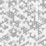Retro struttura di semitono in bianco e nero di Dots Mess Concept Background Pattern del quadrato illustrazione vettoriale