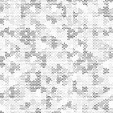 Retro struttura di semitono in bianco e nero di Dots Mess Concept Background Pattern del quadrato illustrazione di stock