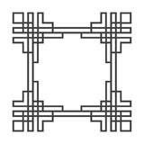 Retro struttura di vettore asiatico quadrato in bianco e nero illustrazione vettoriale