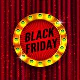 Retro struttura leggera di Black Friday Immagini Stock Libere da Diritti