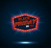 Retro struttura leggera di Black Friday Fotografie Stock