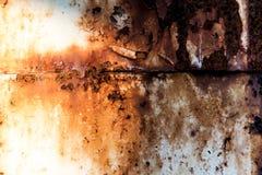 Retro struttura o fondo arrugginita del metallo di lerciume Immagine Stock Libera da Diritti