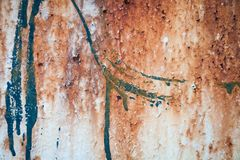 Retro struttura o fondo arrugginita del metallo di lerciume Immagine Stock