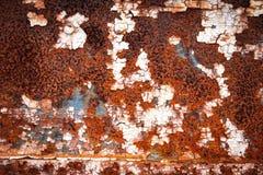 Retro struttura o fondo arrugginita del metallo di lerciume Fotografie Stock Libere da Diritti