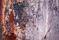Retro struttura o fondo arrugginita del metallo di lerciume Fotografia Stock Libera da Diritti