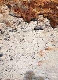 Retro struttura o fondo arrugginita del metallo di lerciume Fotografie Stock