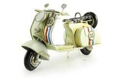 Retro stuk speelgoed motorfiets stock foto's