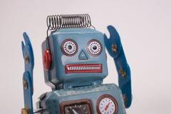 Retro stuk speelgoed robot Stock Foto