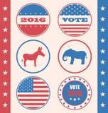 Retro styl guzik dla głosowania lub Głosować kampania wybory ilustracja wektor