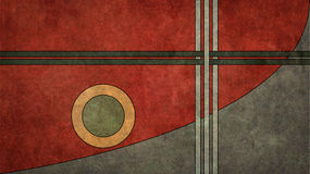 Retro Style 16:9 Background. A texturized, vintage art-deco style retro background in a 16:9 aspect ratio royalty free illustration
