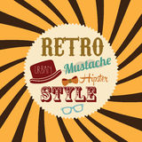 Retro style. Over grunge background vector illustration Royalty Free Stock Images