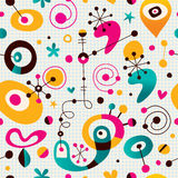 Retro style abstract art note book paper seamless pattern Stock Photo
