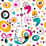 Retro style abstract art seamless pattern Stock Image