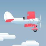Retro style airplane vector illustration Stock Photography