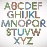 Retro style alphabet. Royalty Free Stock Photos
