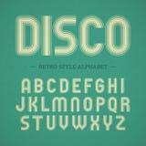 Retro style alphabet Stock Image