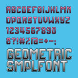 Retro style alphabet font. Cyan and magenta colour Stock Photography