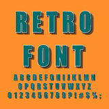 Retro style alphabet. Retro style alphabet, font. Vintage letters Royalty Free Stock Photo