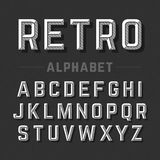 Retro style alphabet Royalty Free Stock Images