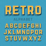 Retro style alphabet Royalty Free Stock Photo