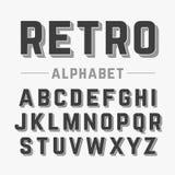 Retro style alphabet Royalty Free Stock Photography