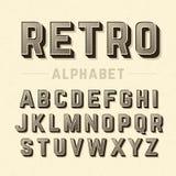 Retro style alphabet Stock Photo