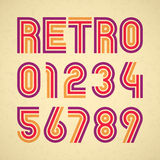 Retro style alphabet numbers Royalty Free Stock Photos