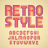 Retro style alphabet Stock Photo