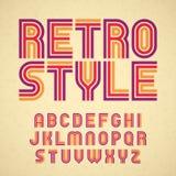Retro style alphabet. Set of retro alphabet letters Stock Photo