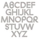 Retro style alphabet. Royalty Free Stock Photo