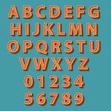 Retro style alphabet. Vector illustration. Stock Images