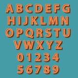 Retro style alphabet. Vector illustration. Retro style alphabet. Over teal background. Vector illustration Stock Images