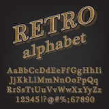 Retro Style Alphabet Stock Photos