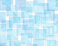 Retro Style Aqua Background Pattern. Translucent liquid blue squares form a layered retro style background pattern Royalty Free Stock Image