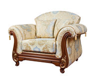 Retro style armchair isolated Royalty Free Stock Photos