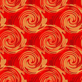 Retro style backdrop, seamless pattern with liquid waves   Royalty Free Stock Photo