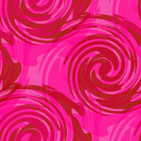 Retro style backdrop, seamless pattern with waves and swirls Stock Image