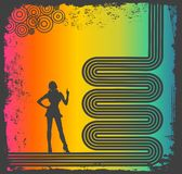 Retro style background. With rainbow Royalty Free Stock Photography