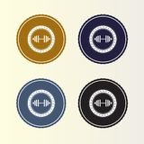 Retro style badge logo. Circle logo for your company stock illustration