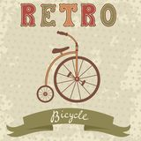 Retro style bicycle Royalty Free Stock Photos